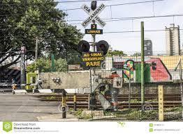 Sao Paulo Red Light Railroad Traffic Light Editorial Photography Image Of