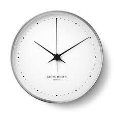 buy georg jensen henning koppel clock  cm  whitestainless