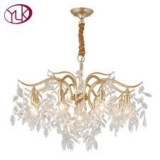 youlaike luxury modern crystal chandelier lighting for living room creative design hanging light fixture dining room led cristal linear chandelier round