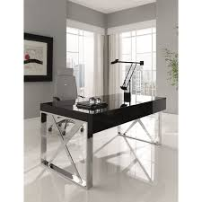 chrome office desk. Amboan Event Office Desk Modern With High Gloss Wood Finish And Chrome I
