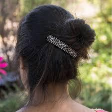 Oberon Design Hair Clips Hair Clip Barrette Celtic Bar 80mm