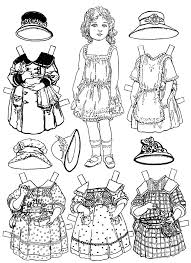 Small Picture Free Printable Paper Doll Coloring Pages For Kids