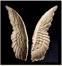 ancient angel wings wall art replica set of 2