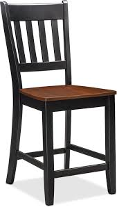 counter height stools with backs. Perfect Counter Dining Room Furniture  Nantucket CounterHeight SlatBack Chair Black  And Cherry For Counter Height Stools With Backs R