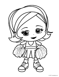Cheerleader Color Pages Printables Cheerleading Coloring Pages For