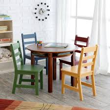 amazoncom lipper childrens walnut round table and  chairs toys
