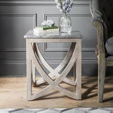 lily side table with a marble natural