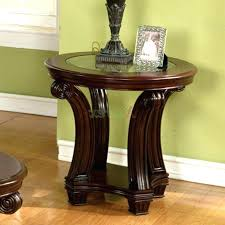 round end tables with glass top end tables table glass top coffee wood base ideas bases