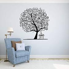 Books Tree Wall <b>Vinyl</b> Decal School Library Education <b>Wall Sticker</b> ...