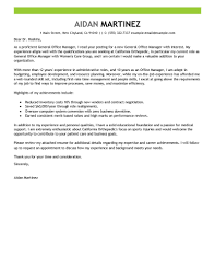 Cover Letter Examples For Medical Office Manager Adriangatton Com