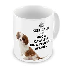 keep calm and hug a cavalier king charles spaniel novelty gift mug amazon co uk kitchen home