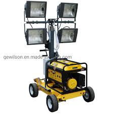Portable Light Generator Hot Item Small Light Tower With Portable Generator In Construction Mining Road Disaster Relief