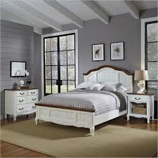 French Countryside 3 Piece Bedroom Set in Oak and Rubbed White 3 ...