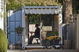 tiny backyard home office. Simple Backyard Backyard Shipping Container Office And Tiny Home O
