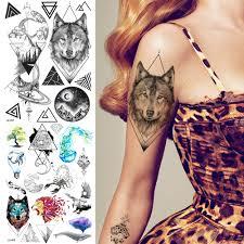 Coktak горячие индивидуальные волк временные татуировки наклейки для женщин дети