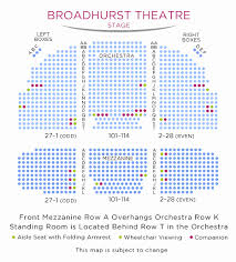 Shubert Theater Nyc Seating Chart 79 Factual Broadhurst Theatre Seating