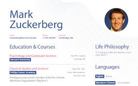 What Mark Zuckerberg's Rsum Might Have Looked Like Before Facebook
