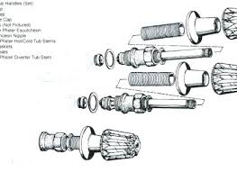 2 handle shower valve replacing shower handle repair parts for three handle tub shower series