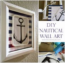 Image Pallet Anchor Wall Art Diyscom Decorate Your Beach House With These 50 Diy Coastal Decor Pieces