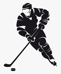 Transparent Ice Hockey Clipart - Silhouette Ice Hockey Clipart, HD Png  Download - kindpng