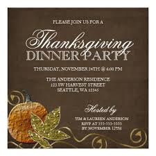 Invitation Card For Dinner Party Thanksgiving Dinner Party Invitations Square Invitation Card