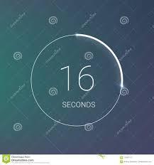 Countdown Timer Or Digital Counter Clock Vector Flat Circle