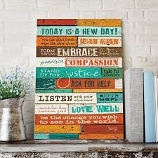 amazon prime on wooden wall art inspirational quotes with the barn today is a new day marla rae wood wall art panel 12 x 16
