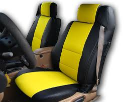 chrysler sebring convertible black yellow iggee s leather custom seat cover