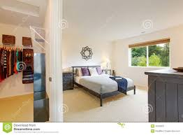 Master Bedroom Interior Master Bedroom Interior With Walk In Closet Stock Photo Image