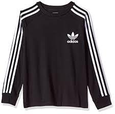 adidas long sleeve. adidas originals big boys\u0027 kids long sleeve california tee, black/white,