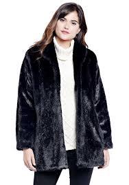black mink classic faux fur jacket 1