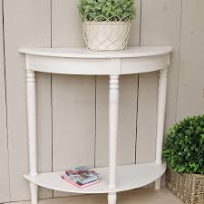 furniture half moon console table small with drawer bay s collection black white mirror