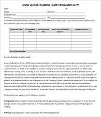 Free Evaluation Templates Teaching Feedback Form Template 10 Teacher Evaluation Forms Pdf Doc