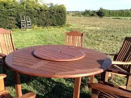 round garden table large round solid wood garden table 6 chairs in garden planter set