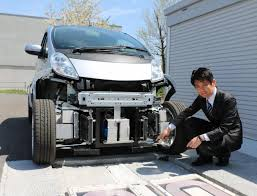 electric car motor. New Tech Lets Electric Vehicles Wirelessly Charge As They Drive, Japanese Team Says Car Motor