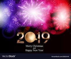 New Year Backgrounds 2019 New Year Background With Christmas Ball Vector Image