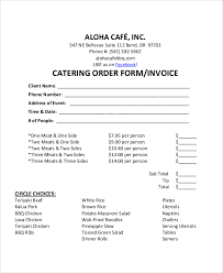 Form For Invoice 8 Sample Catering Invoice Free Sample Example Format Download