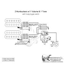 2 humbuckers 3 way toggle switch 1 volume 1 tone pickup wiring 2 humbucker 2 volume 1 tone wiring at Guitar Wiring Diagrams 2 Humbucker 3 Way Toggle Switch