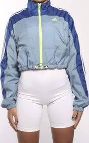 Cinch Jacket Size Chart Vintage Adidas Crop Cinch Windbreaker Jacket Frankie