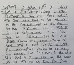 children s village sa 402when i grow up fire fighter essay book 036