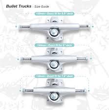 Bullet Trucks Size Guide Slam City Skates
