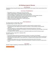 Qc Inspector Resume Welding Inspector Resume Quality Control ...