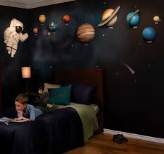 Space Bedroom Decor Solar System With Space Astronaut 3d Wall Art Decor By Beetling