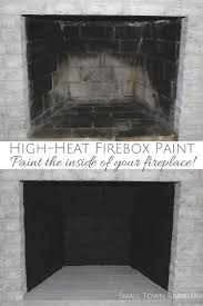 painting a firebox with high heat paint