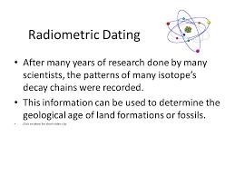 radiometric dating geology definition