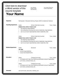 Microsoft Word 2007 Resume Templates All About Letter Examples