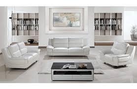 Small Picture Rogelio White Leather Sofa Set