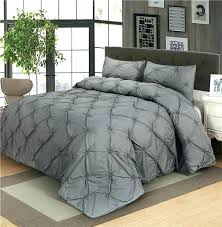 luxury duvet cover set grey black white pinch pleat 2 3pcs twin queen king size bedclothes