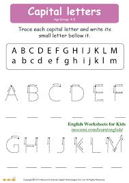 Capital Letters – English Worksheets for Kids – Mocomi.com