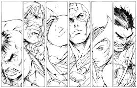 Coloring Civil War 2 Avengers Free Pages Pdf 5 Marvel Colouring To